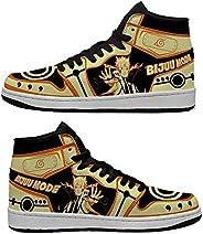Unisex-Adult Naruto Akatsuki Itachi Kakashi Nine-Tails Rasengan Basketball Shoes Comfortable Non-Slip Casual S