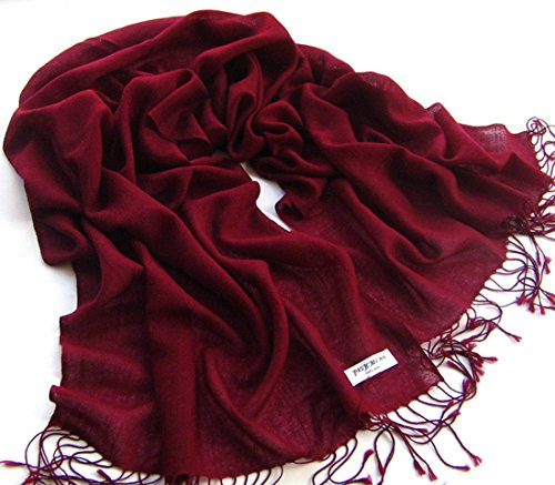 Women Men Pashmina Cashmere Silk Warm Shawl Wrap Stole Unisex Long Scarf (Ann Taylor Silk Sweater)