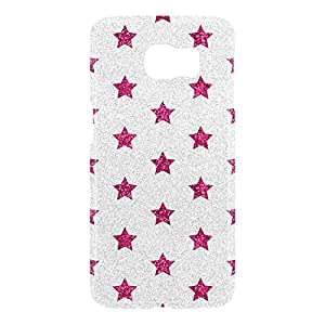 Loud Universe Samsung Galaxy S6 3D Wrap Around Glitter Dots Print Cover - Silver/Pink