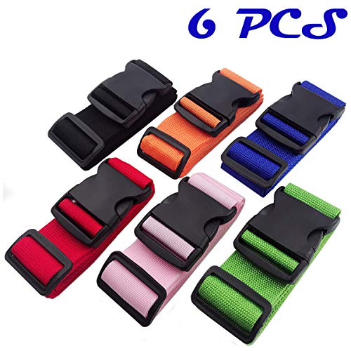 DEEBF 6 PCS Luggage packing belt,Travelling bag,Suitcase Belts,Adjustable Luggage Strap,Suitcase Belt Adjustable