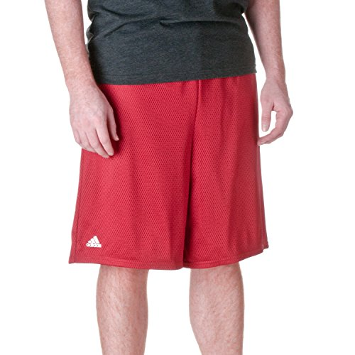 adidas Men's Lined Mesh Athletic Short, Wine, X-Large Adidas Lined Shorts