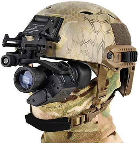 Digital Night Vision PVS-14 IR Night Vision Monoculars Rifle Scope Telescope with J-Arm for Helmet, for Night Patrol Hunting+Rhino Mount for PSV-14