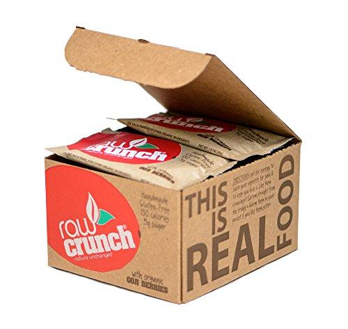 Raw Crunch Bars - Organic Goji Berry - Box 12 (Balance Carb Well Chocolate)