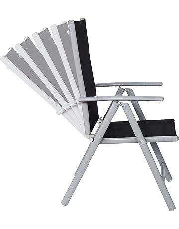 CCLIFE Juego sillas Plegables de Aluminio para jardín, terraza, Patio, Playa,Impermeables