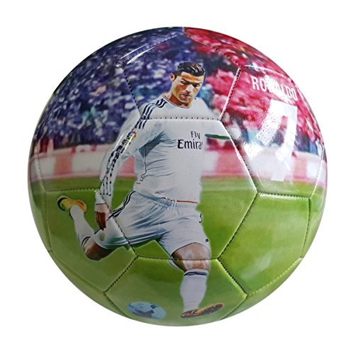 iSport Gifts Cristiano Ronaldo #7 Madrid Kids Soccer Ball ✓ Size 5 for Kids & Adult ✓ Premium Gift Youth Soccer Ball ✓ Unique Design ✓ Durable Soft Construction (Size 5, Ronaldo #7)