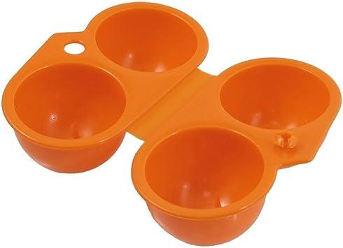 DealMux Home Kitchen - Estuche plegable de plástico, 4 porta huevos, naranja: Amazon.es: Bricolaje y herramientas