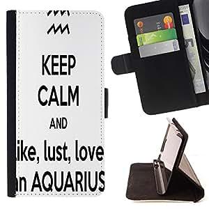 - Freaky Funny Pattern - - Prima caja de la PU billetera de cuero con ranuras para tarjetas, efectivo Compartimiento desmontable y correa para la mu?eca FOR HTC M8 One 2 King case