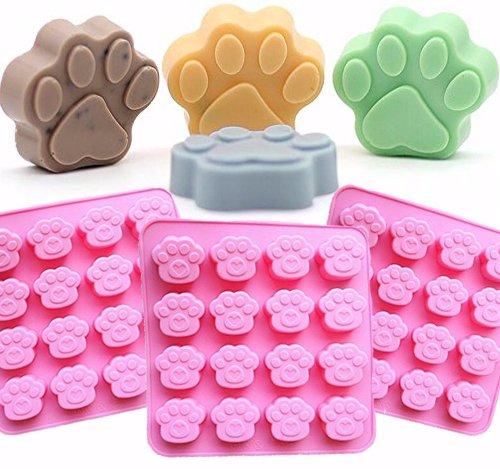 Inn Diary 16-Cavity Bear Paw Silicone Chocolates Molds,Pudding mold,Ice tray mold,Candy Making Mold(2pcs).