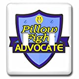 Dooni Designs – Funny Sarcastic Advocate Designs - Pillow Fight Advocate Support Design - Light Switch Covers - double toggle switch (lsp_242757_2)