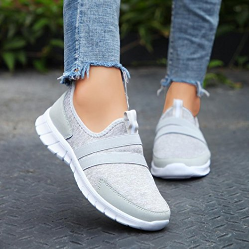 Foot Couple Set Shoes Women Sneaker Lazy Shoes Gray Flats Girls Muium Head Round Casual Soft Shoes Mesh Fashion Sports vRFWzA