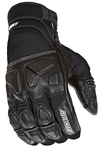Joe Rocket Atomic X Men's Motorcycle Riding Gloves (Black/Black, X-Large)