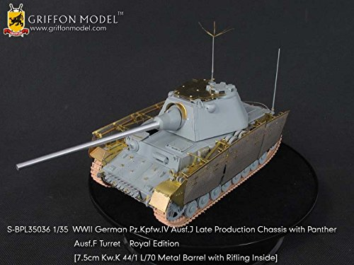 (Griffon Model 1/35 WWII German Pz.Kpfw.IV Ausf.J Late Production Chassis with Panther Ausf.F Turret Royal Edition SBPL35036)