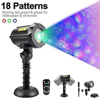Bellar 18 Pattern Laser christmas light for Christmas & Halloween &Holiday