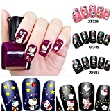 5 PCS 3D Nail Art Stickers Decals Tips Charming DIY Decoration Hello Kitty 10 Choices