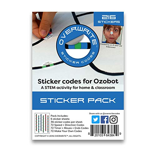 Overwrite Sticker Codes (Codes Pack) for use with Ozobot