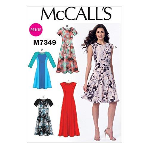 7-8-10-12-14 Size CHJ McCalls Patterns M7344 Childrens//Girls Raglan Sleeve Knit Dresses