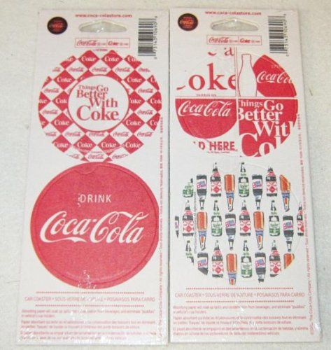 Set of 8 Coke Coca-Cola Car Table Drink Thick Paper sealed old store stock Coasters