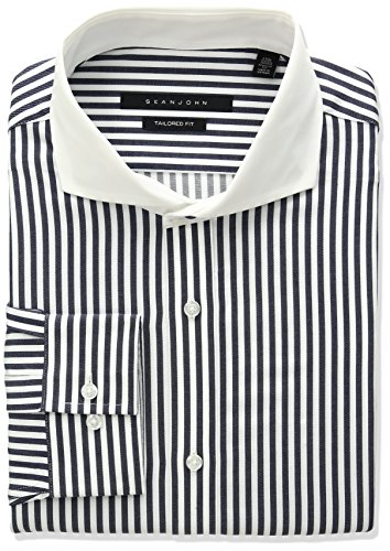 sean-john-mens-regular-fit-stripe-spread-collar-dress-shirt-navy-155-neck-34-35-sleeve