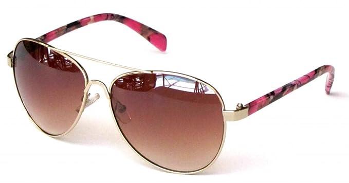 Amazon.com: Mujer Camuflaje anteojos de sol rosa, rosa ...
