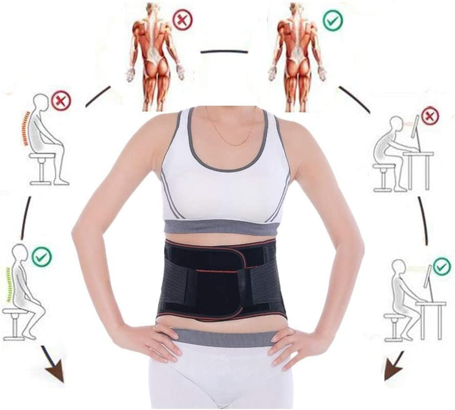 Self-heating Waist Belt/Lower Back Heat Therapy Wrap/Massage Lose Weight Heated Belt,Stomach Pain Relief Abdominal Pain Wrap,Portable Heated Belt for Waist Pain Warm Abdomen,Fits Men and Women