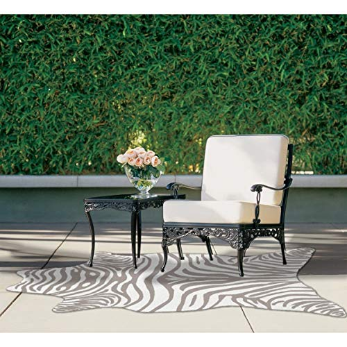 - The Rug Market Zebra Grey Shaped Area Rug  Size 5X8 SHAPED