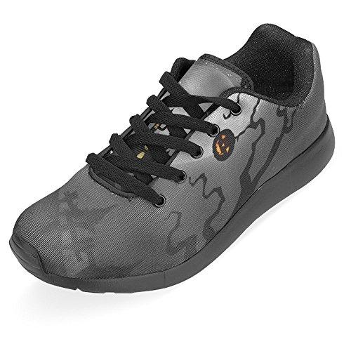 Interessante Donna Da Jogging Corsa Sneaker Leggero Andare Facile Camminare Casual Comfort Scarpe Da Corsa Halloween Notte Con Zombie A Piedi, Zucche, Castello E Luna Piena Multi 1