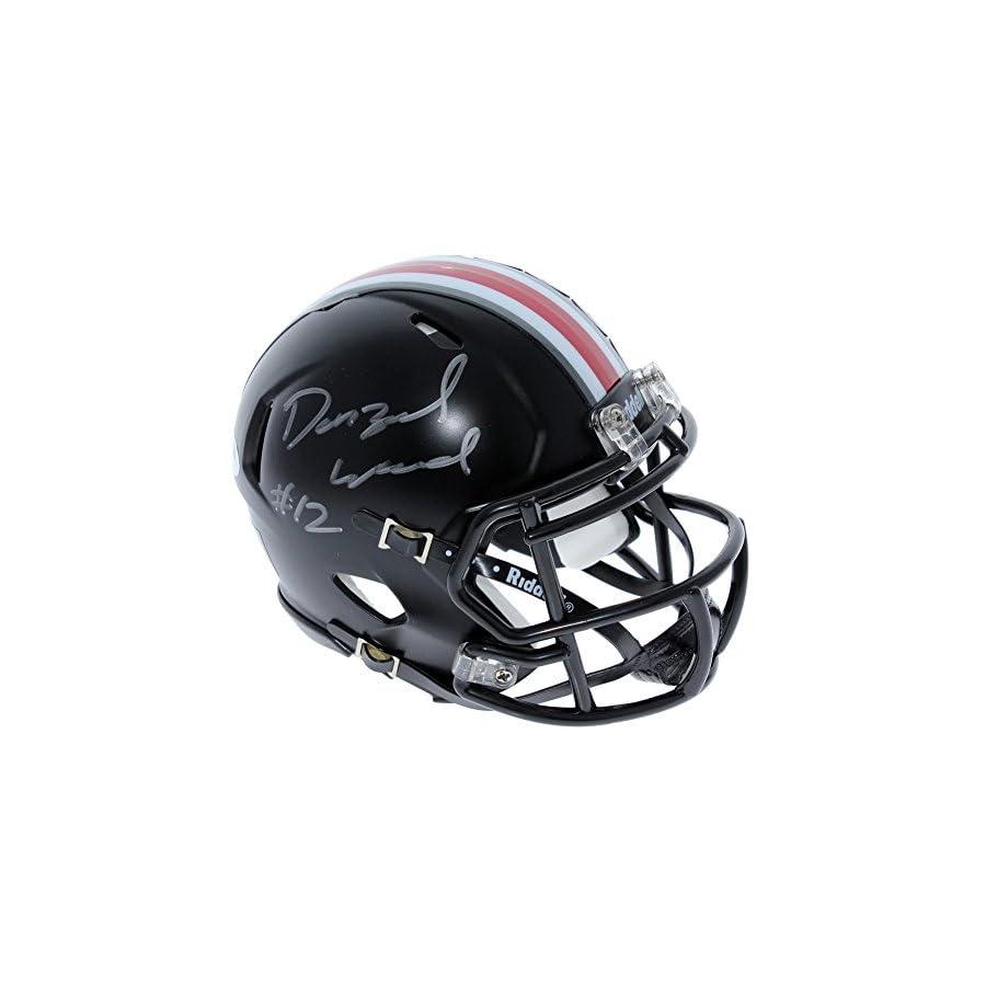 Denzel Ward Ohio State Buckeyes Autographed Signed Riddell Black Speed Mini Helmet PSA/DNA Authentic