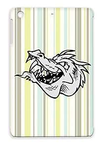 TPU Tearproof Miscellaneous Animals Nature Dragon Silver For Ipad Mini Case Cover