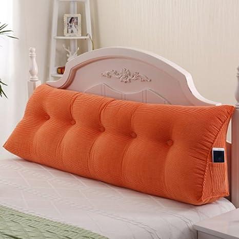 CX-PILLOW Triangolo Cuscino Cuscini Letto matrimoniale testiera imbottita schienale cuscino del divano letto lavabile Moda cuscino bello (Colore : A, dimensioni : S.)