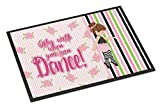 Caroline's Treasures Ballet Dance Stripes Brunette Doormat, 24 H x 36 W'', Multicolor
