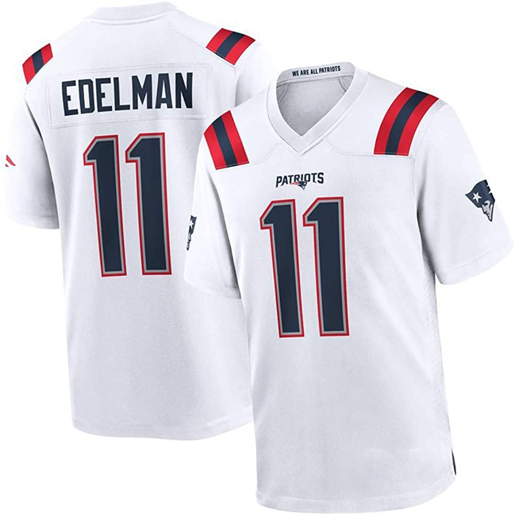 WYUN Julian Edelman 11 # New England Patriots Rugby Jersey de ...