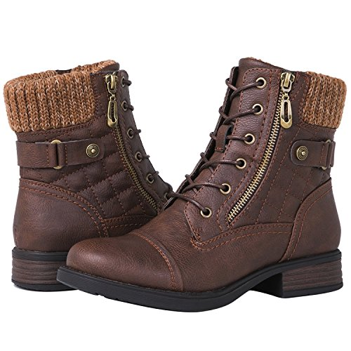 GLOBALWIN Women's 1821 Brown Fashion Boots 6.5M