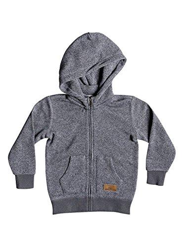 Quiksilver Little Boys' Keller Zip Youth Polar Fleece Sweatshirt, Dark Grey Heather, 5 by Quiksilver