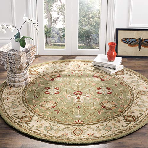 Safavieh Antiquities Collection AT21D Handmade Traditional Oriental Sage Wool Round Area Rug 3 6 Diameter
