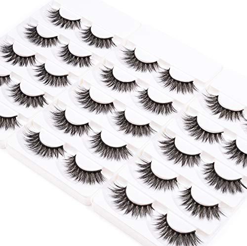 Wleec Beauty 3D Silk Lashes Handmade Dramatic False Eyelash Pack #3D/F15 (15 Pairs/3 Pack)
