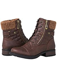 Globalwin Women's 1821 Brown Fashion Boots 5.5M