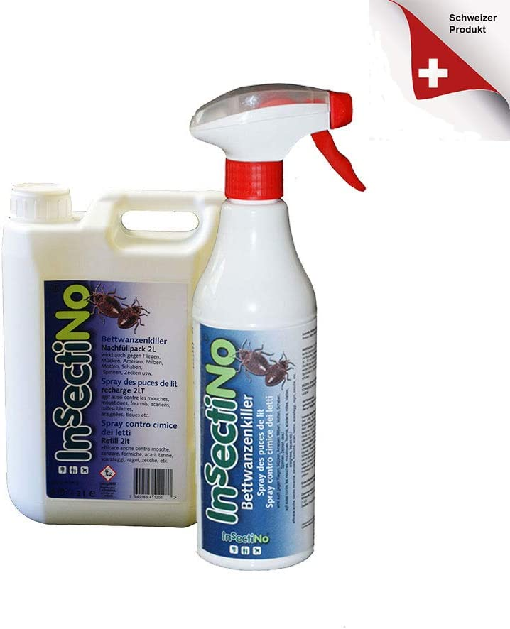 INSECTINO insec Tino chinches Killer Bundle 1 x 500 ML/1 x 2 litros Anti chinches Spray