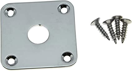 "Curved Square Metal Jack Plate Jackplate/""Chrome/"" fit Gibson® Les Paul"