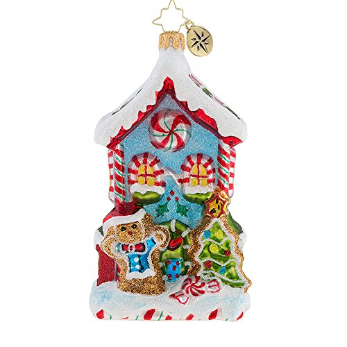 Christopher Radko Candy Cane Cottage Christmas Ornament