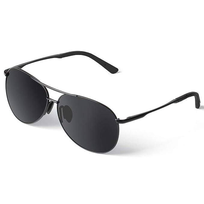 6710ca6b1 Polarized Sunglasses for Men Women Hochllander Mens Sunglasses 100% UV  Protection Classic Aviator Sunglasses (