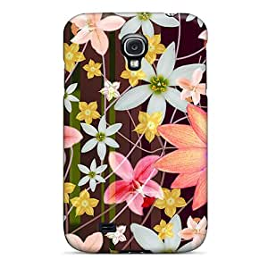Hot Style BAlxnei5398gOqfo Protective Case Cover For Galaxys4(flower Painting)
