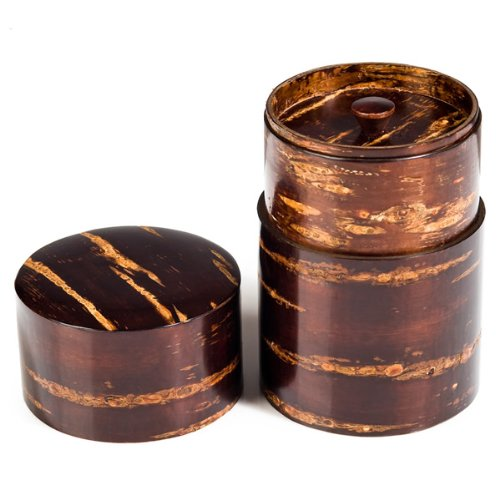 Large Cherry Bark Japanese Tea Caddy by The Japanese Shop (Image #1)