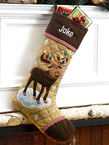 Christmas Stocking Cabin Series Moose ()