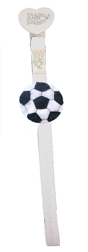 Zigozago - para chupete blanco con balón de fútbol: Amazon ...