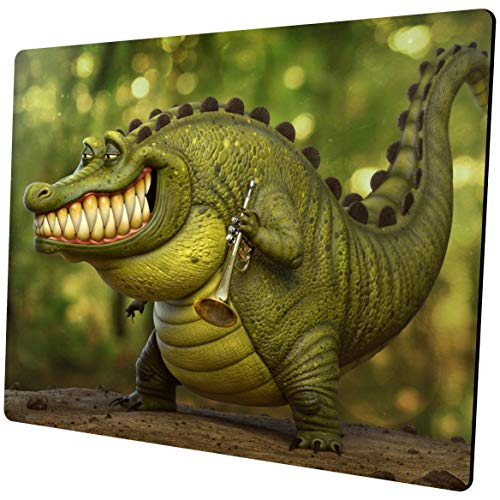 Shalysong Funny Crocodile Mouse pad Personalized Designs Non-Slip Rubber Mouse Pads for Computer Laptop