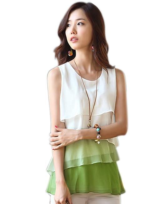 MAKIYO niveles reloj de mujer con esfera de costura para blusas sin mangas para mujer blusa