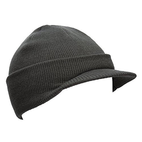 knit cap with bill - 6