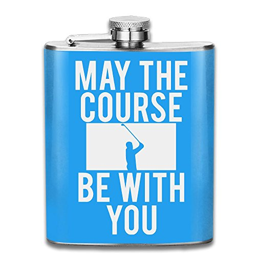 Cute May The Course Be With You Golf Stainless Steel Flask   Funnel Set 7Oz