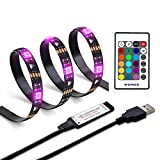 WENICE LED Strip Lights 4m for 55-70inch TV with 24 Big Keys IR Remote Dimmable LED Strip Kit(1pc led Strip)