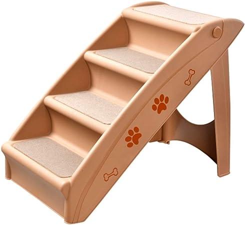 YLLYLL Peldaño for Perros, escaleras for Mascotas Cama Antideslizante Escalera de plástico for Perros Gato pequeño Pendiente for Perros Escalera Plegable for Auto (Beige): Amazon.es: Productos para mascotas